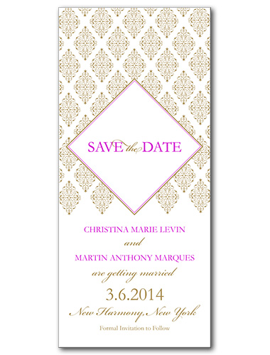 Sparkling Diamond Save the Date Card