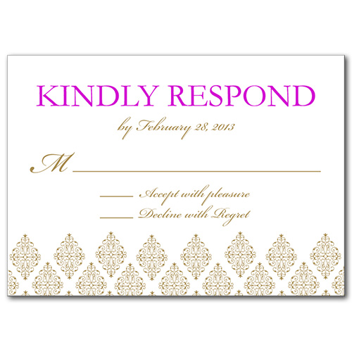 Sparkling Diamond Response Card