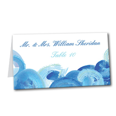 Spiral Ocean Table Card