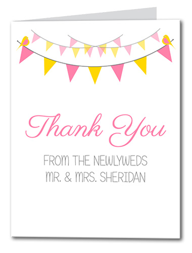 Spring Garland Thank You Card