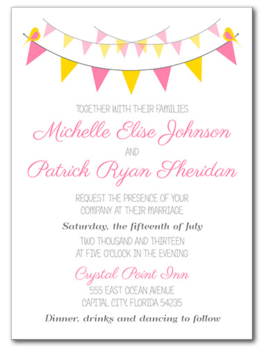 Spring Garland Wedding Invitation