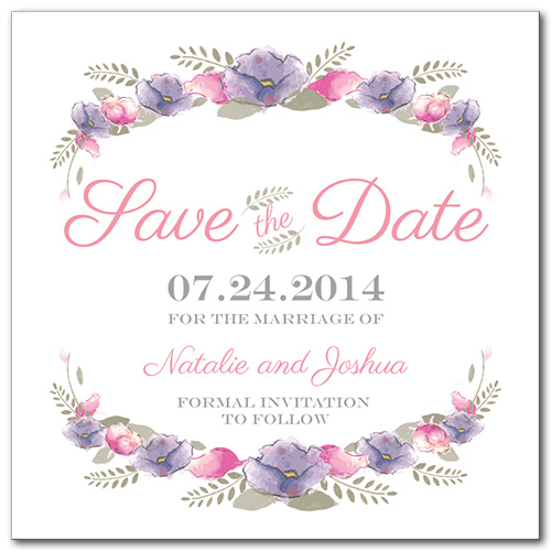 Spring Love Square Save the Date Card