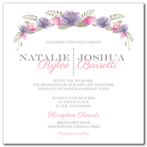 Spring Love Wedding Invitation