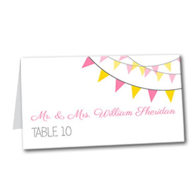 Spring Garland Table Card