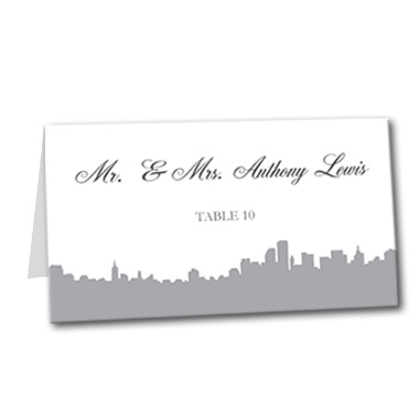 Stunning Skyline Table Card