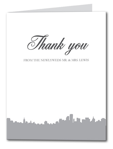 Stunning Skyline Thank You Card