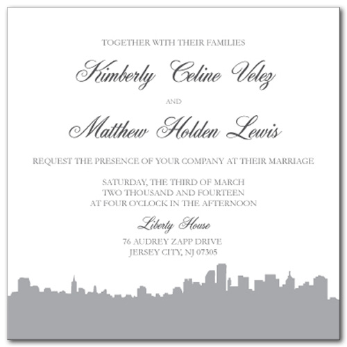 Stunning Skyline Wedding Invitation