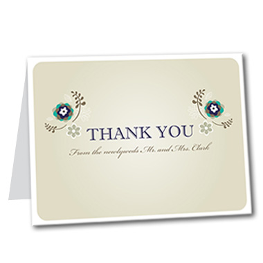 Summer Flourish Thank You Card