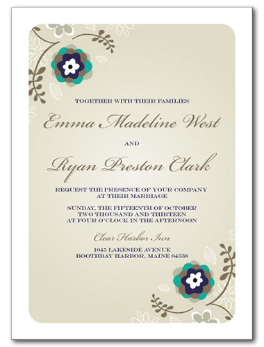 Summer Flourish Wedding Invitation