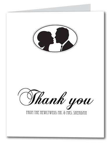 Swanky Silhouette Thank You Card