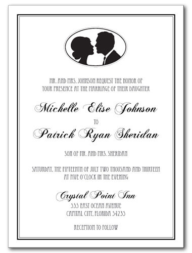 Swanky Silhouette Wedding Invitation
