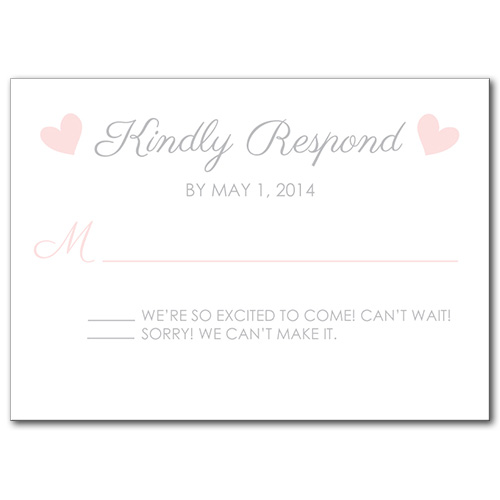 Sweet Promise Response Card