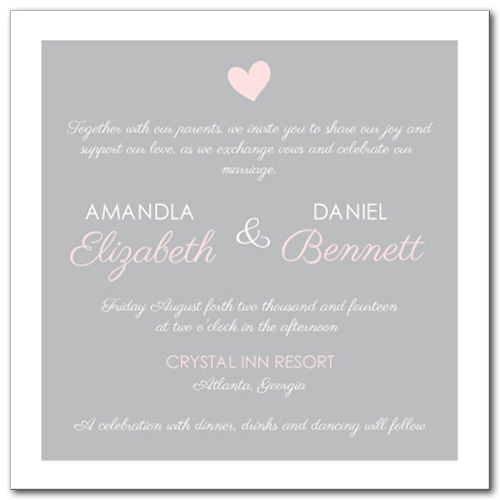 Sweet Promise Wedding Invitation