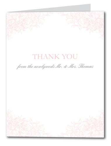 Sweet Romance Thank You Card