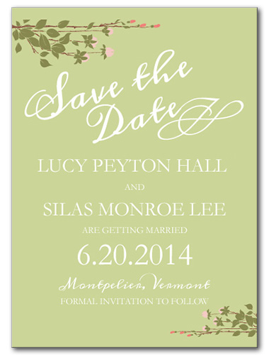 Sweet Spring Save the Date Card