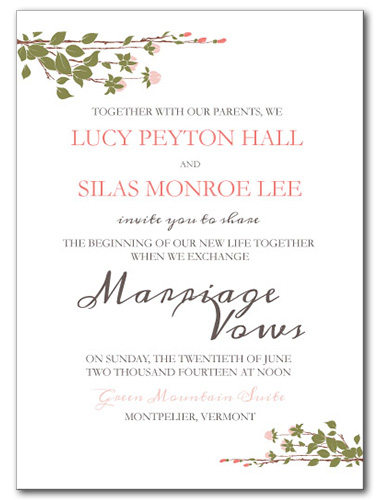Sweet Spring Wedding Invitation