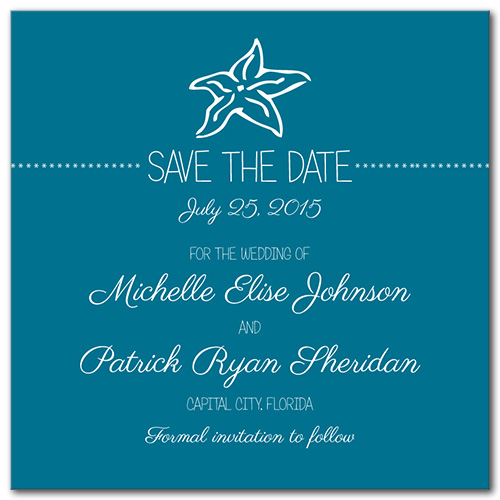 Sweetest Star Square Save the Date