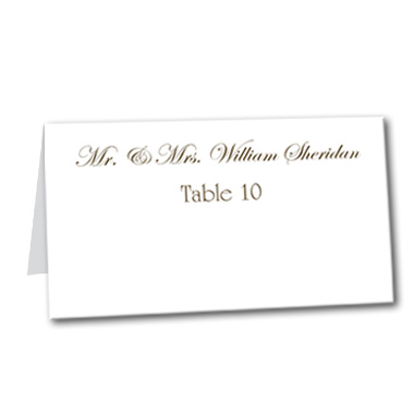 Blank Table Card