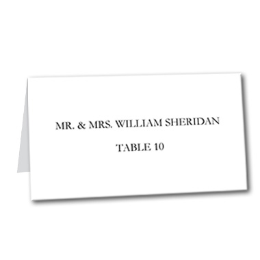 Classic Black Table Card