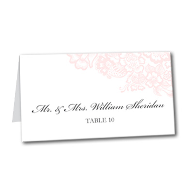 Soft Rose Table Card