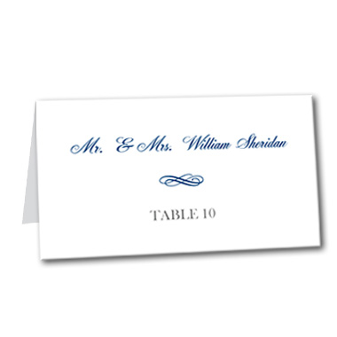 Elegant Swirl Table Card