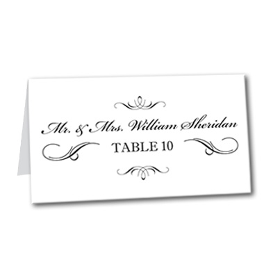 Elegant Affair Table Card