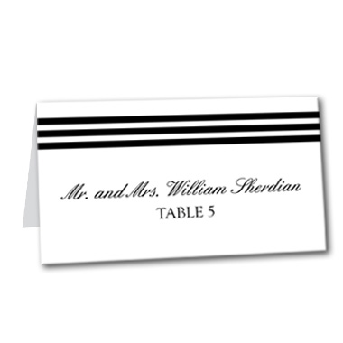 Formal Stripes Table Card