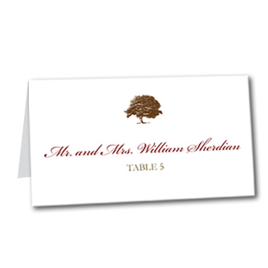 A Fall Event Table Card