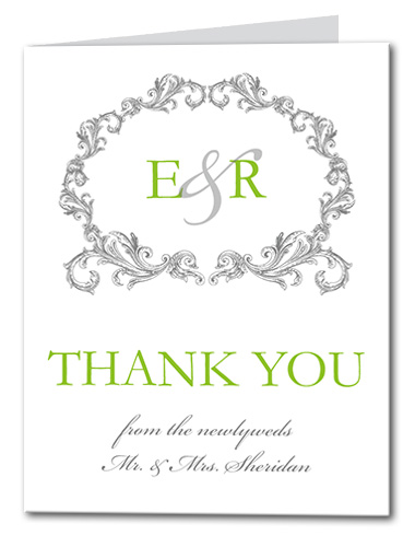 Timeless Chartruese Thank You Card