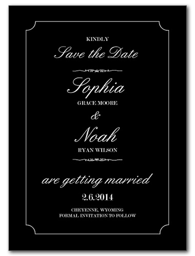 Timeless Love Save the Date Card