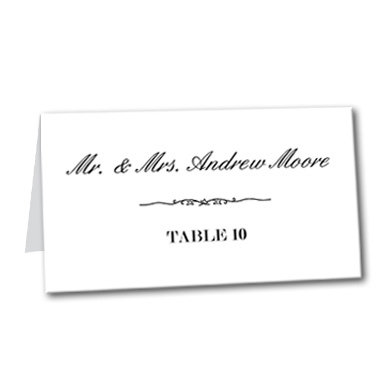 Timeless Love Table Card