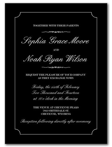 Timeless Love Wedding Invitation