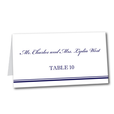 Traditional Nautical Table Card