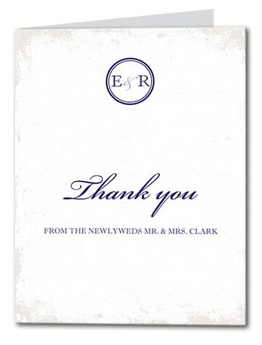 Traditional Nautical Thank You Card