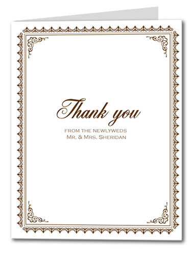 Traditionally Sweet Thank You Card