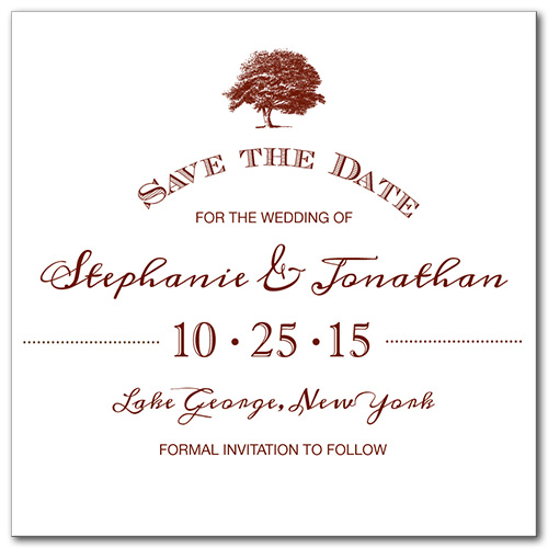 Tree of Love Square Save the Date