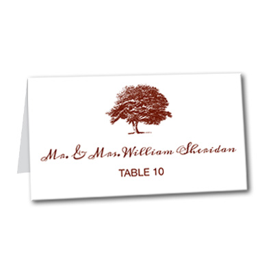 Tree of Love Table Card