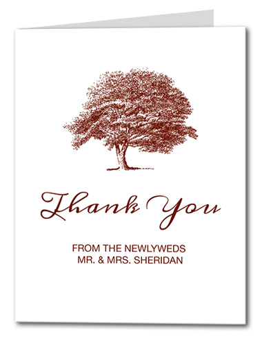 Tree of Love Thank You Card