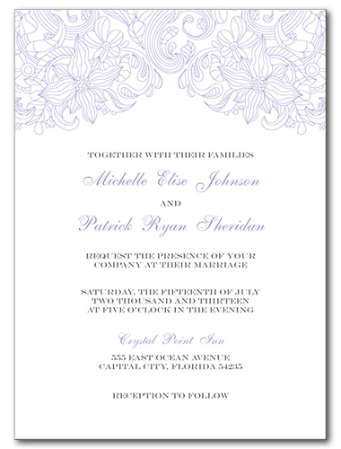 Truly Bloom Wedding Invitation