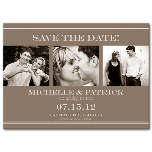 Truly Triple Save the Date Card