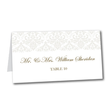 Victorian Grace Table Card