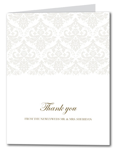 Victorian Grace Thank You Card