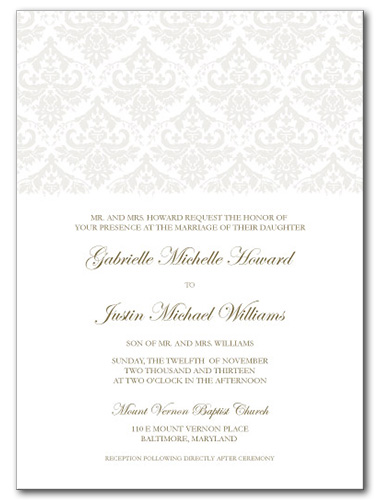 Victorian Grace Wedding Invitation