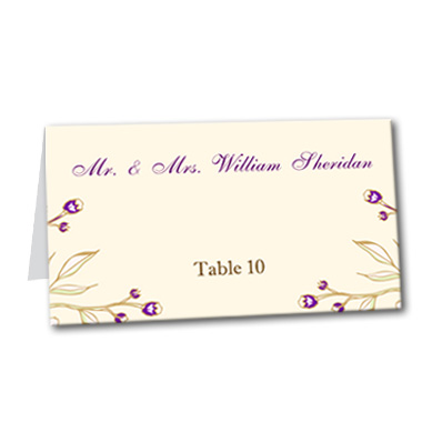 Victorian Magenta Table Card