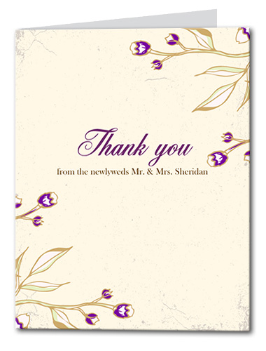 Victorian Magenta Thank You Card