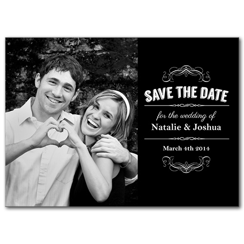 Vintage Craft Save the Date Card