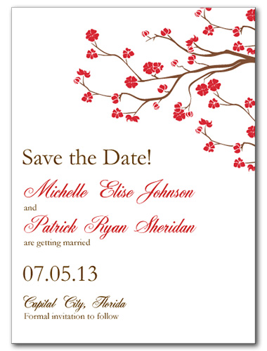 Vivid Vines Save the Date Card
