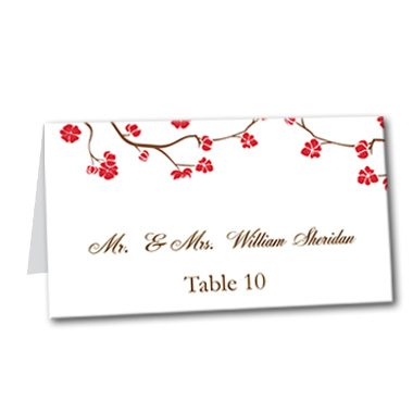 Vivid Vines Table Card
