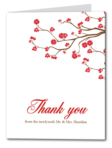 Vivid Vines Thank You Card