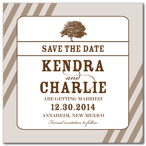 Wonderful Willow Square Save the Date Card